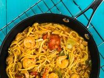 Thai Spicy King Prawn Noodles Stock Photos