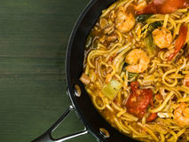Thai Spicy King Prawn Noodles Stock Photography