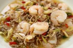 Thai Spicy Lemongrass Shrimp Royalty Free Stock Images