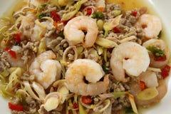 Thai Spicy Lemongrass Shrimp Stock Photo