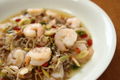 Thai Spicy Lemongrass Shrimp Royalty Free Stock Image