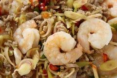Thai Spicy Lemongrass Shrimp Stock Photography