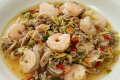 Thai Spicy Lemongrass Shrimp Royalty Free Stock Images
