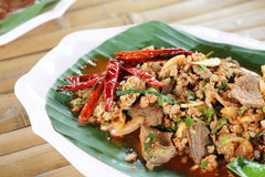Thai Spicy minced meat Stock Image