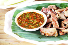 Thai Spicy minced meat Stock Photography