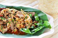 Thai Spicy minced meat Royalty Free Stock Photos