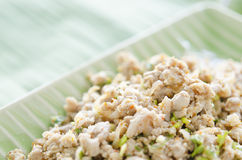 Meat salad. Thai Spicy minced meat salad Stock Images