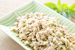 Meat salad. Thai Spicy minced meat salad Stock Photography