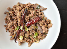 Thai Spicy minced meat salad Stock Photography