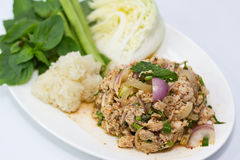 Thai spicy minced pork Royalty Free Stock Photo