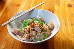 Thai spicy noodle Stock Photo