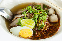 Thai  spicy noodle Stock Photo