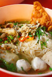 Thai spicy noodle in hot soup Royalty Free Stock Images