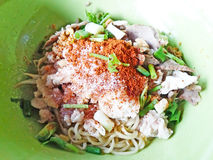 Thai spicy noodle royalty free stock photography