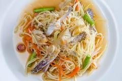 Thai spicy papaya salad Stock Image