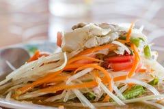 Thai spicy papaya salad Royalty Free Stock Images