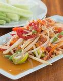 Thai Spicy papaya salad Royalty Free Stock Photography