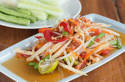Thai Spicy papaya salad Stock Images