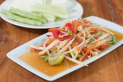 Thai Spicy papaya salad Stock Images