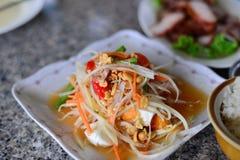 Thai Spicy papaya salad Stock Photography