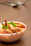 Thai Spicy Prawn Soup (Tom Yum Kung) Royalty Free Stock Photography