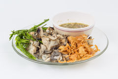 Thai spicy raw shell food Stock Photos