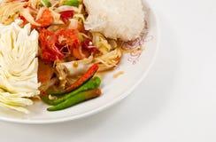 Thai spicy salad Stock Images