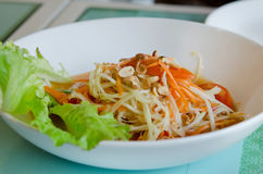 Thai spicy salad. Thai papaya salad, spicy , mixed from variety of vegetable Stock Image