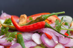 Thai spicy salad Royalty Free Stock Image