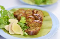 Thai spicy sausage Stock Photography