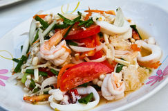 Thai spicy seafood salad. Royalty Free Stock Photography