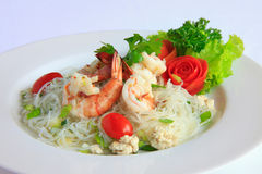 Thai spicy seafood salad Royalty Free Stock Images