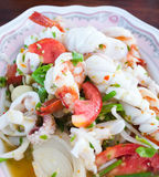 Thai spicy seafood salad Royalty Free Stock Photos