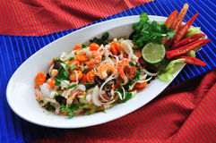 Thai spicy seafood salad Stock Image