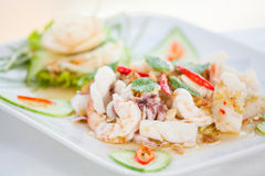 Thai spicy seafood salad Stock Image