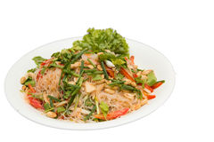 Thai spicy seafood with vermicelli salad Stock Images