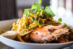 Thai spicy shrimp salad Royalty Free Stock Photos