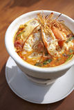 Thai spicy shrimp soup Stock Photos