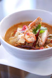 Thai spicy shrimp soup Royalty Free Stock Photography
