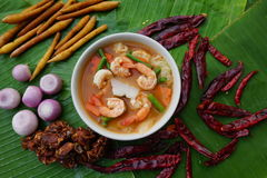 Thai spicy soup Royalty Free Stock Photography
