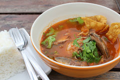 Thai spicy soup Royalty Free Stock Photos