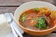 Thai spicy soup Royalty Free Stock Photos