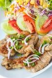 Thai Spicy-Sour Grilled Pork Royalty Free Stock Photos
