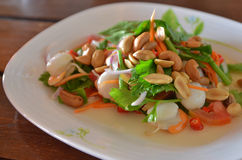 Thai spicy and sour seafood salad Stock Photography