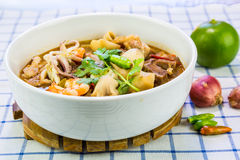 Thai spicy and sour soup Stock Photo