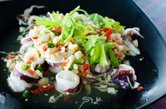 Thai spicy squid salad Stock Photography