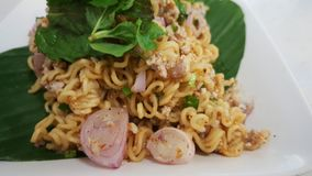 Thai spicy thai instant noodle for the asian cuisine. Stock Photography