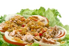Thai spicy tuna salad Royalty Free Stock Images