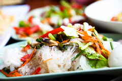 Thai spicy vermicelli salad. Delicious Thai spicy vermicelli salad Royalty Free Stock Photos