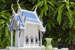 Thai spirit house 02. A miniture spirit house that you can find outside most homes in Thailand Stock Photos